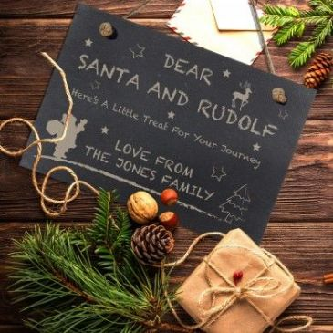 Treats for Santa Slate Hanging Sign